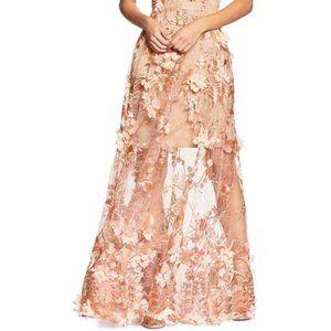 Dress the Population Sidney Floral-Appliqué Skirt